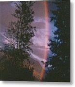 Sunset Rainbow Metal Print
