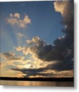 Sunset Rays On The Shore Metal Print
