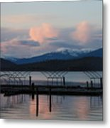 Sunset Reflecting Off Priest Lake Metal Print