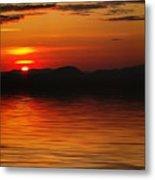 Sunset Reflection On The Lake Metal Print