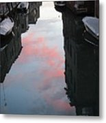 Sunset Reflections In Venice Metal Print