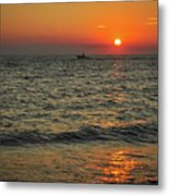 Sunset Ride Cape May Point Nj Metal Print
