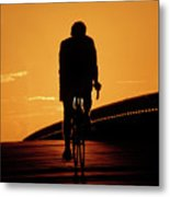 Sunset Ride Metal Print