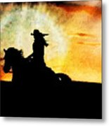 Sunset Rider Metal Print