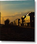 Sunset Route Sunset Metal Print