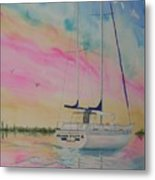 Sunset Sail 3 Metal Print