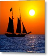 Sunset Sailing In Key West Florida Metal Print