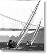 Sunset Sailing Metal Print