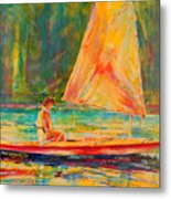 Sunset Sailor 2 Metal Print