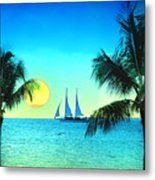 Sunset Sailor Metal Print by Bill Cannon