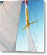 Sunset Sails 1 Metal Print