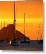 Sunset Sails Metal Print