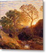 Sunset Metal Print by Samuel Palmer