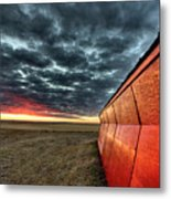 Sunset Saskatchewan Canada Metal Print