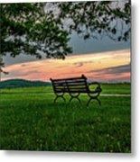 Sunset Seating Metal Print