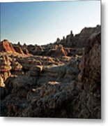 Sunset Shadows In The Badlands Metal Print