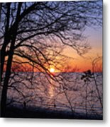 Sunset Silhouette 2 Metal Print