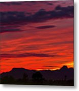 Sunset Silhouette H1816 Metal Print