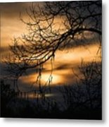 Sunset Silhouette Metal Print