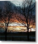 Sunset Silhouettes Metal Print