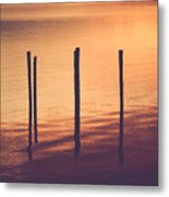 Sunset Silouette Metal Print