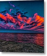 Sunset Sky At East Point Metal Print