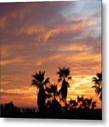 Sunset Sky Over Baja Metal Print