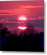 Sunset Split Metal Print