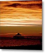 Sunset Stroll Along The Beach 2582 H_2 Metal Print