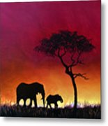 Sunset Stroll Metal Print