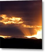 Sunset Sunbeams Metal Print