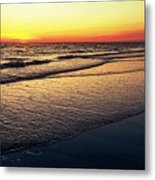 Sunset Time On Sunset Beach Metal Print