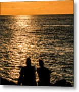 Sunset Together In Key West Metal Print
