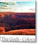 Sunset Tour Valley Of The Gods Utah Pan 09 Text Metal Print
