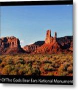 Sunset Tour Valley Of The Gods Utah Text 09 Black Metal Print