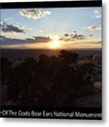 Sunset Valley Of The Gods Utah 01 Text Black Metal Print