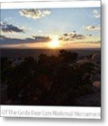 Sunset Valley Of The Gods Utah 01 Text Metal Print