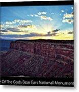 Sunset Valley Of The Gods Utah 03 Text Black Metal Print