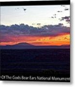 Sunset Valley Of The Gods Utah 05 Text Black Metal Print