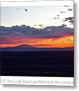 Sunset Valley Of The Gods Utah 05 Text Metal Print