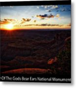 Sunset Valley Of The Gods Utah 11 Text Black Metal Print