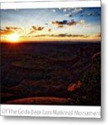 Sunset Valley Of The Gods Utah 11 Text Metal Print