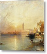 Sunset Venice Metal Print