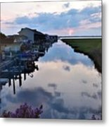 Sunset View At The Art League Of Ocean City - Maryland Metal Print