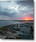 Sunset View From Sandy Neck Light Metal Print