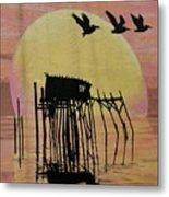 Sunset Wall Mural In Cedar Key, Fl Metal Print