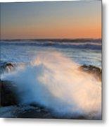 Sunset Wave Explosion Metal Print