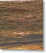 Sunset Waves Over Carmel Beach Metal Print
