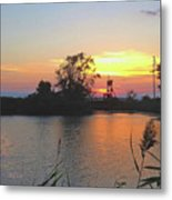 Sunset West Of Myers Bagels Vertical Metal Print