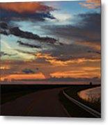 Florida Sunset Winding Road Metal Print